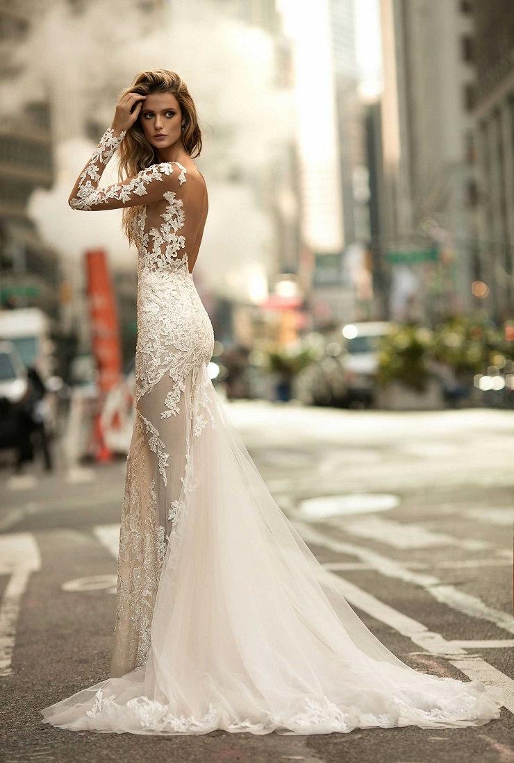 elegant winter wedding gown