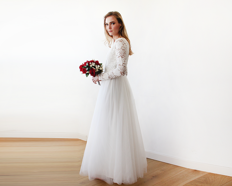 simple winter wedding dress