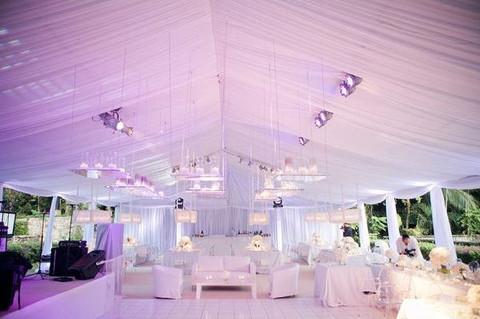 charming wedding tent