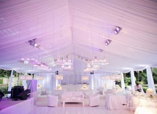 wedding tent decor inspirations