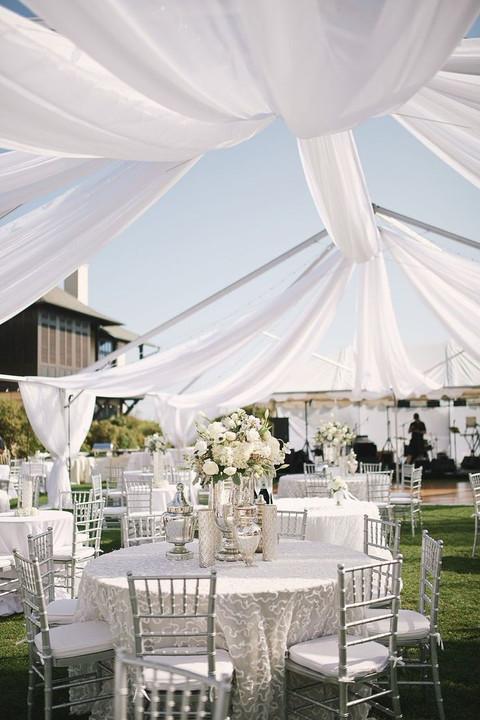 an open wedding tent