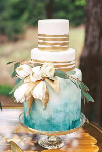 metallic marble wedding cake design