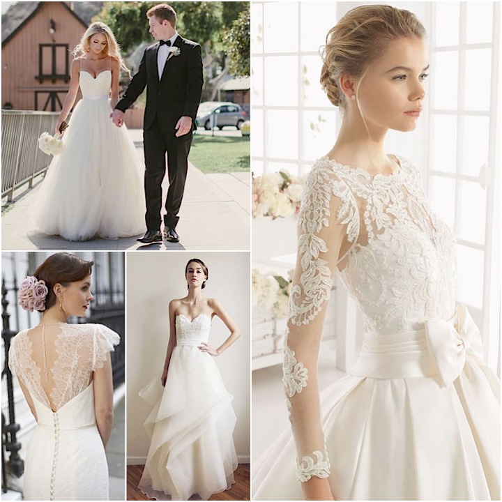 Classy Wedding Dresses With a Lace Touch Bring Out a Glamorous and ...
