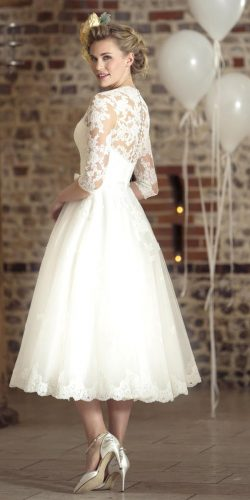 vintage tea-length wedding dress