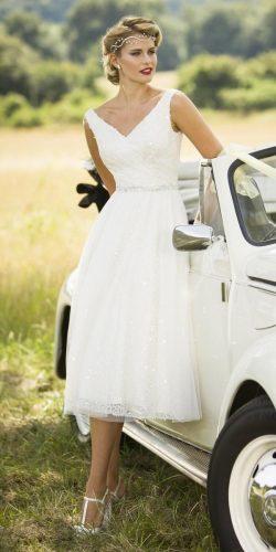 vintage style tea-length wedding