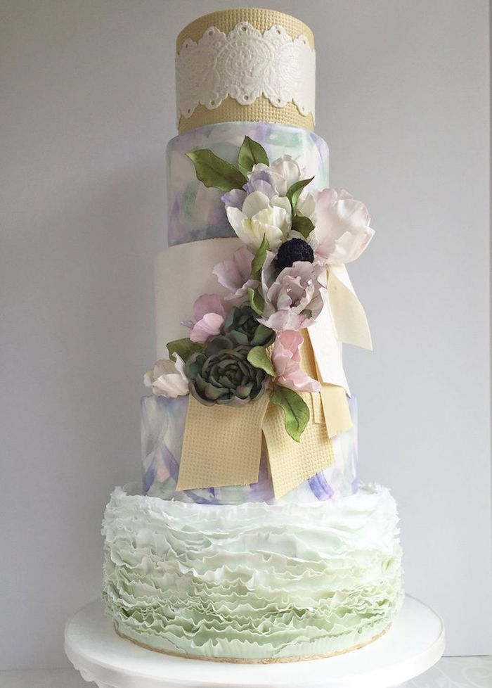 simply beautiful wedding cake