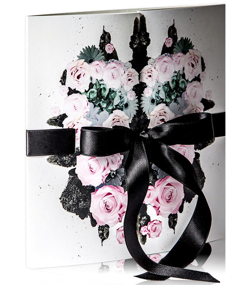 flower cover wedding invitation