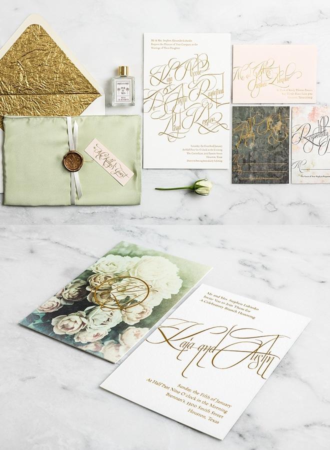 gorgeous wedding invitation