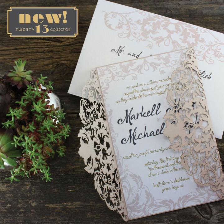 cream color wedding invtation