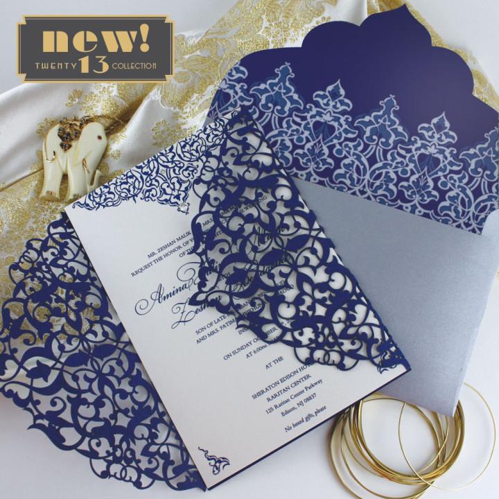 trendy wedding invitation