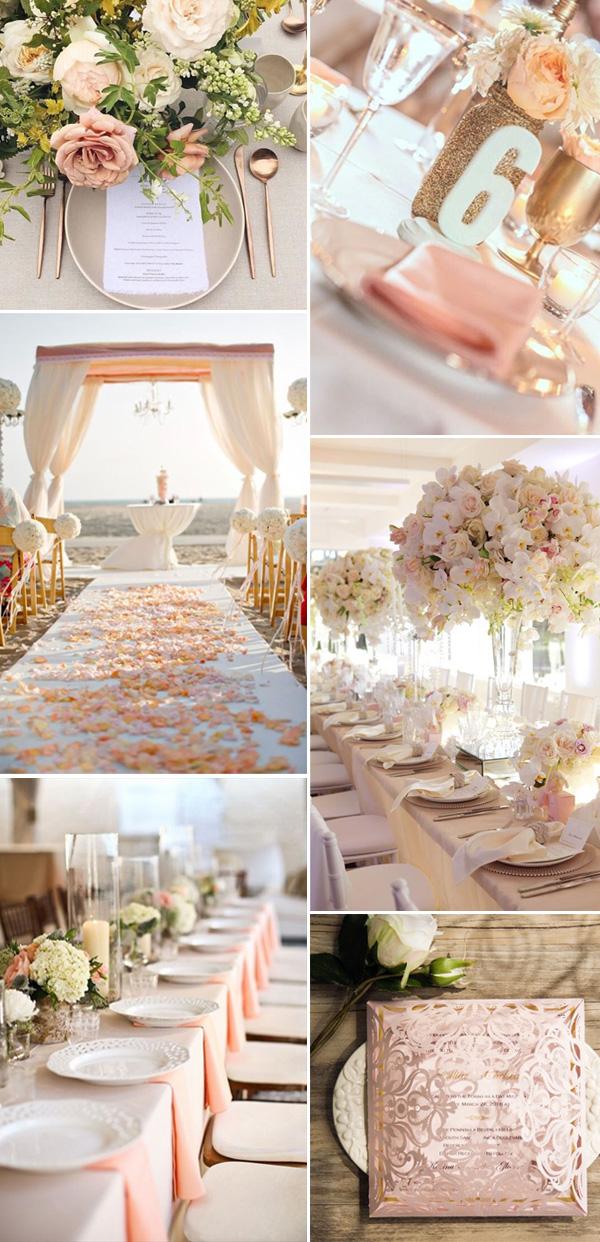neutral peach wedding ideas