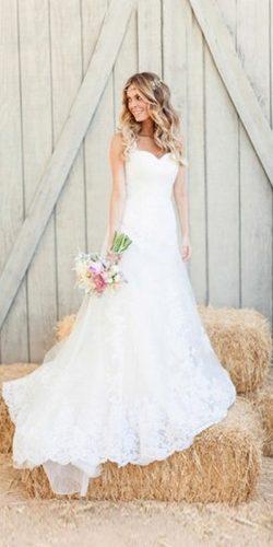 open shoulder rustic wedding gown
