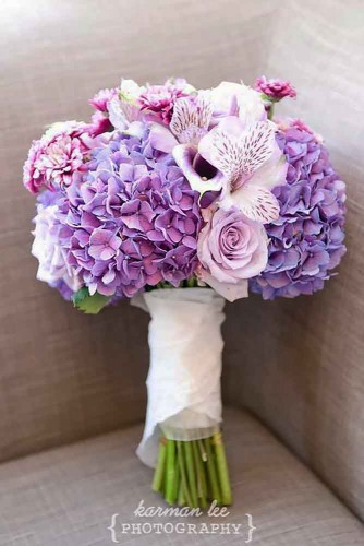 small purple wedding bouquet