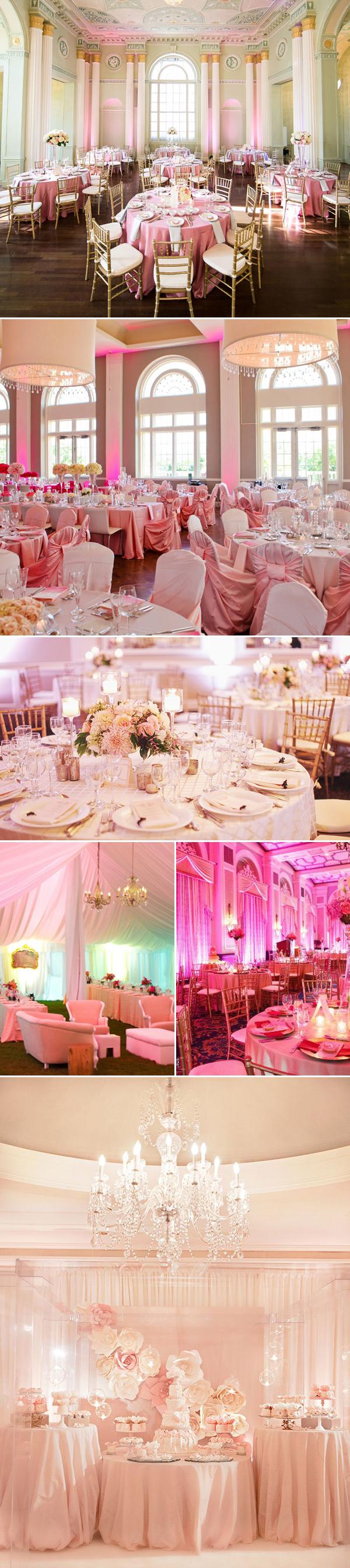 pink luxury wedding design