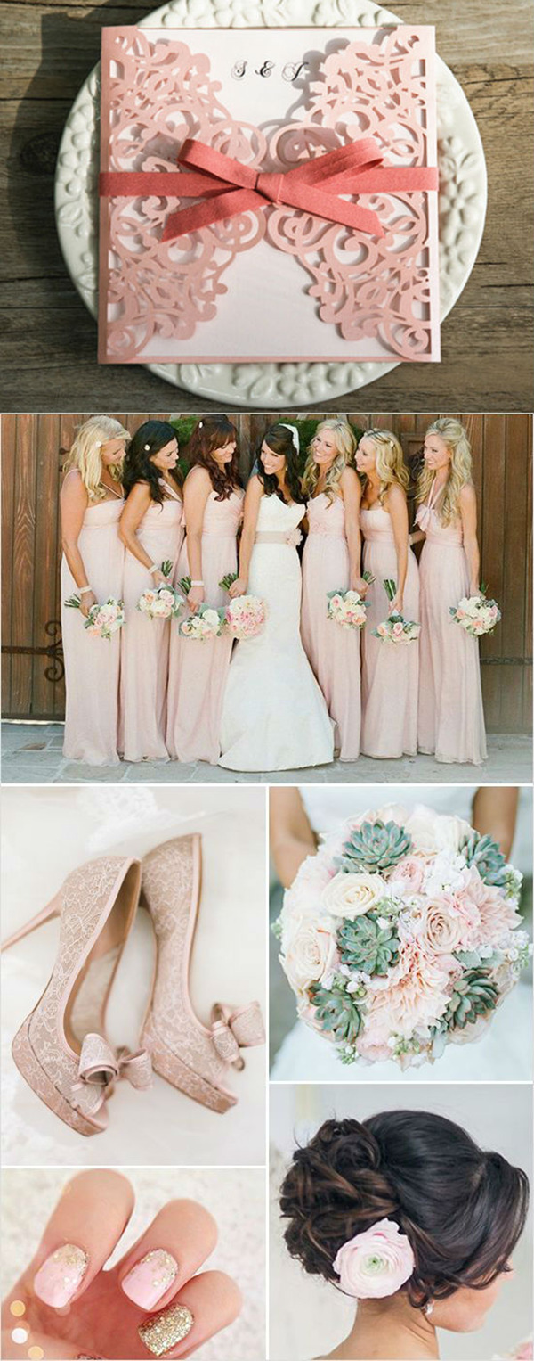 spring elegant-peach-shaded-wedding-ideas