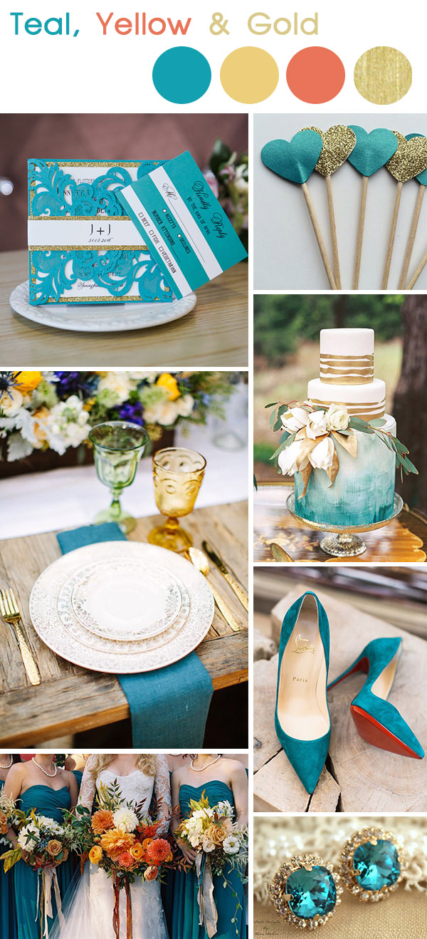 teal-and-gold-fall-and-autumn-wedding-color-inspiration