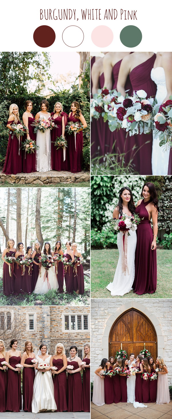 trendy-burgundy-bridesmaid-dresses-for-wedding