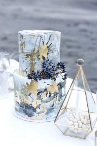 trendy gray marble cake