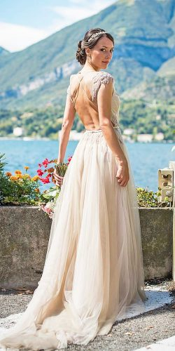 vintage wedding dress with train