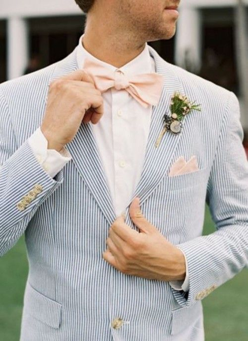 stripe men wedding suit
