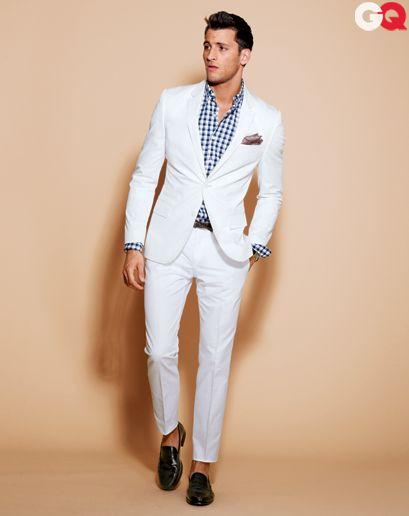 white style wedding suit