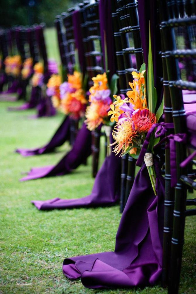 wedding purple decor