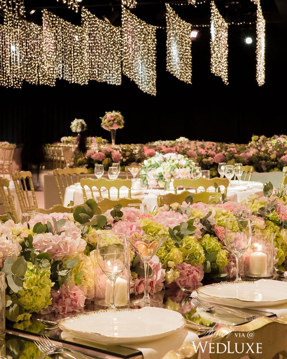 starry sky lights design for wedding