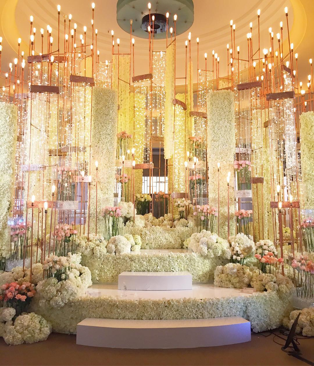 starry sky wedding decor