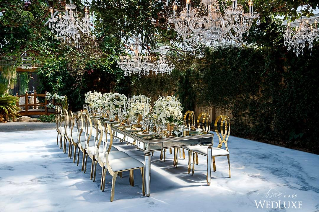 white awesome wedding decor