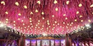 gorgeous lights wedding decor