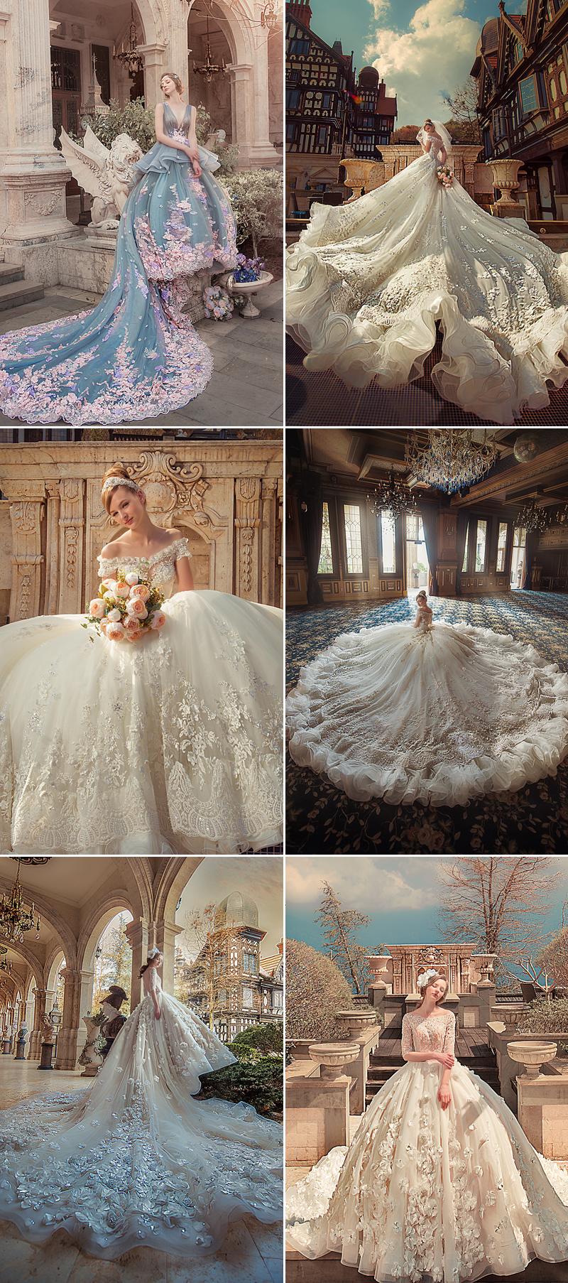 Bella wedding dress with extraordinary model design