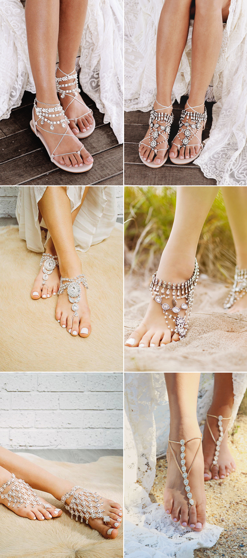 boho anklet wedding barefoot