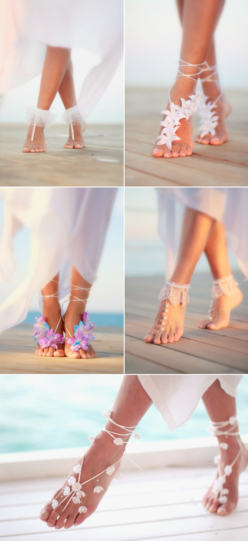 Gorgeous Wedding Barefoot Sandals For Beach Wedding Party