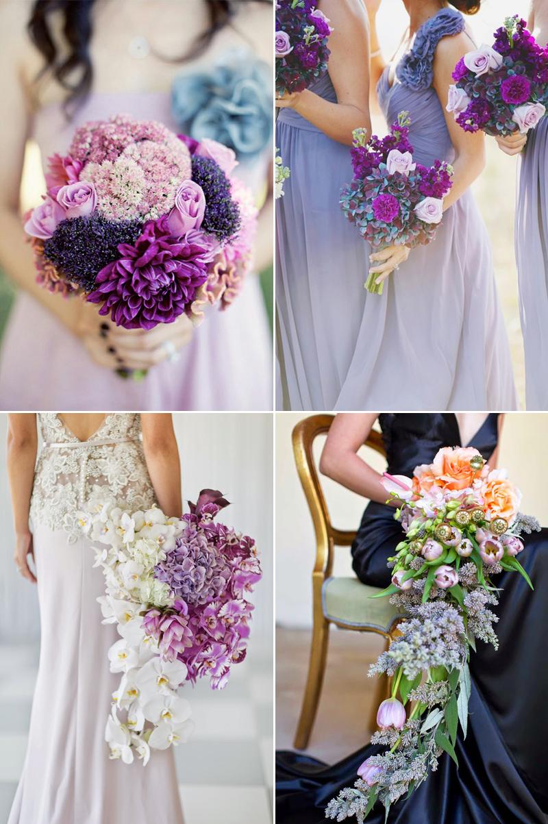beautiful purple ombre wedding bouquet