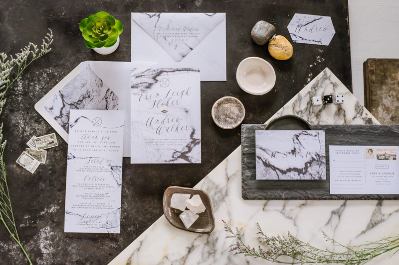 black and white wedding card ideas