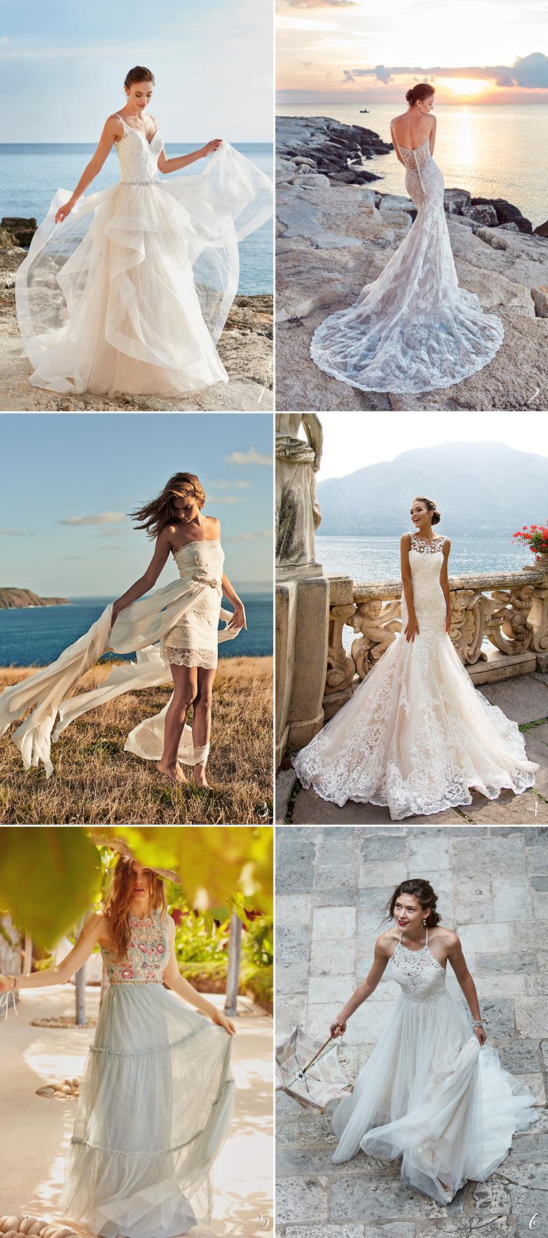 boho chic beach wedding gown