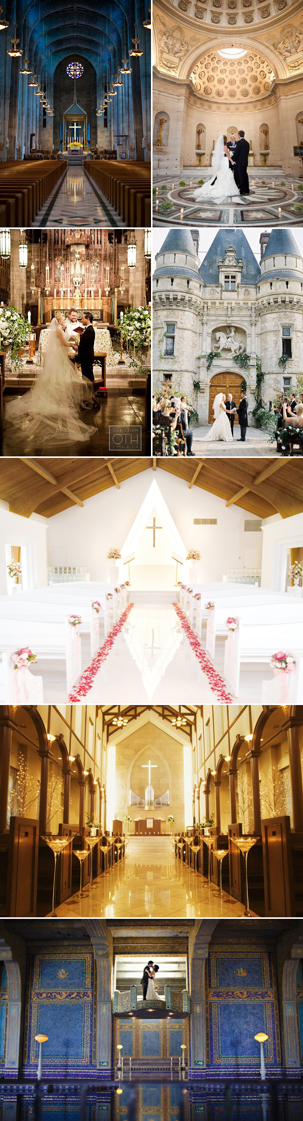 classic romantic chapel and castle altar