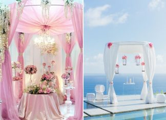 romantic wedding altar ideas