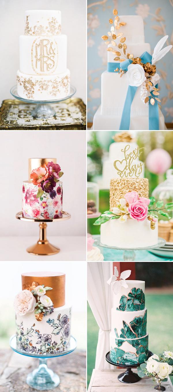 contemporary wedding cakes