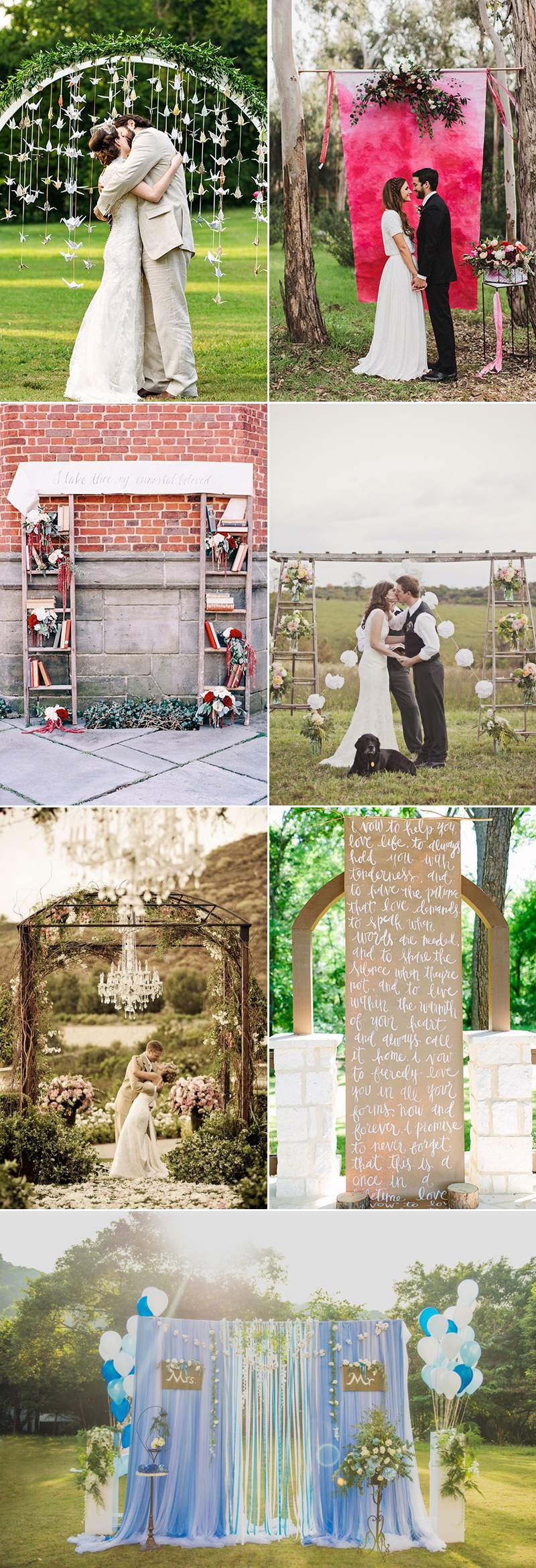 creative wedding altar ideas
