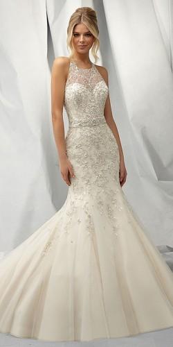 elegant mermaid wedding gown