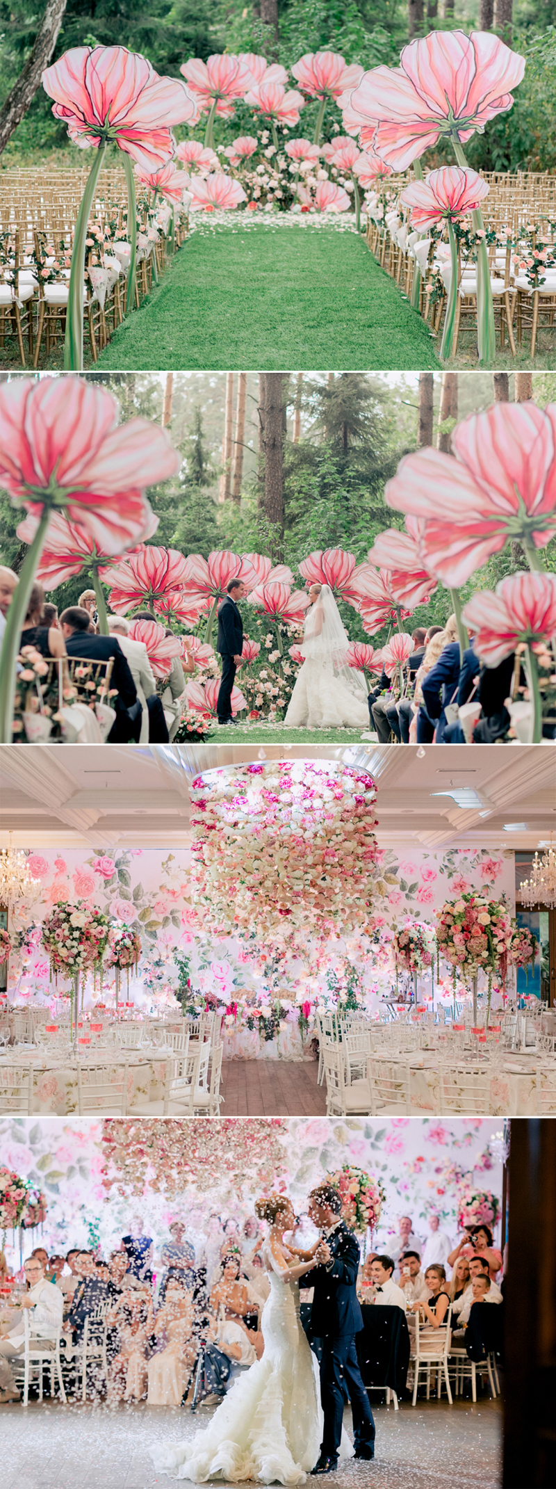 fairy tale floral land wedding decor