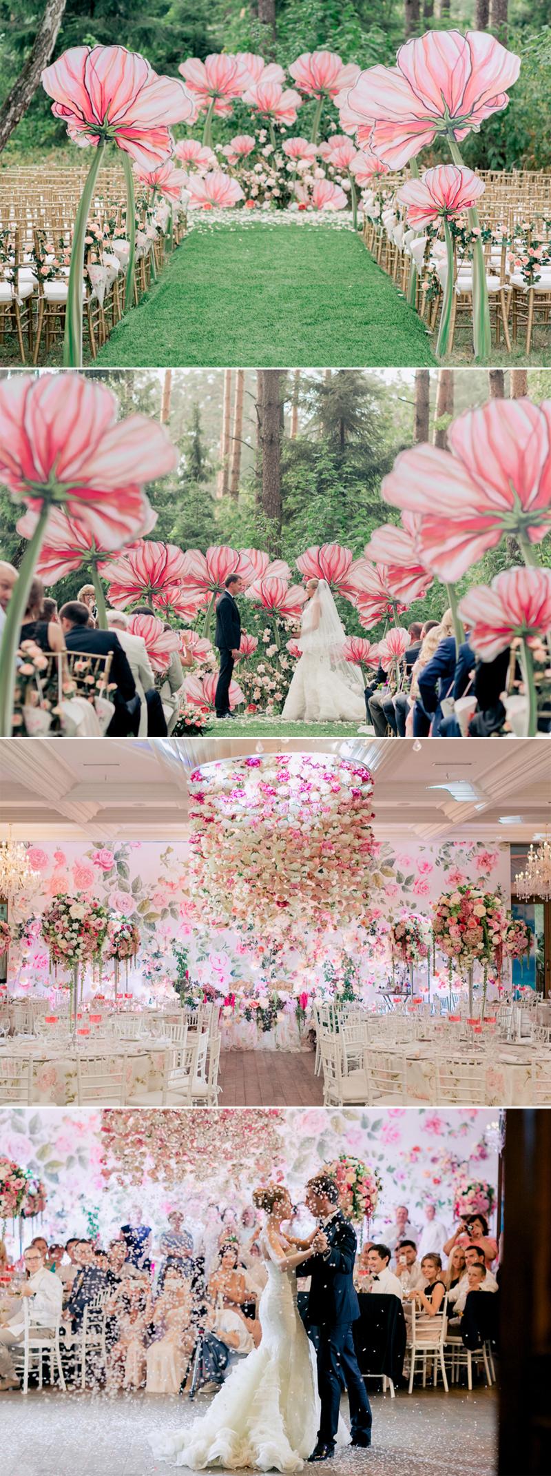 fairy tale floral land wedding decor