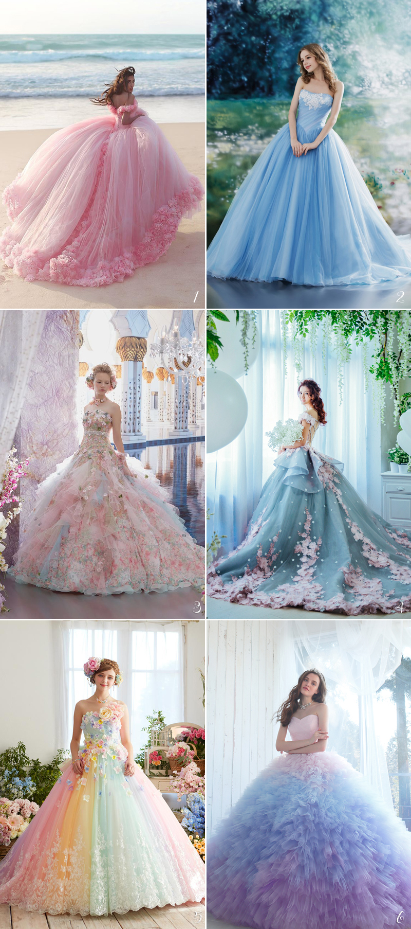 Princess Bridal Gowns With Waist Ball Model Design Makes Beautiful ...