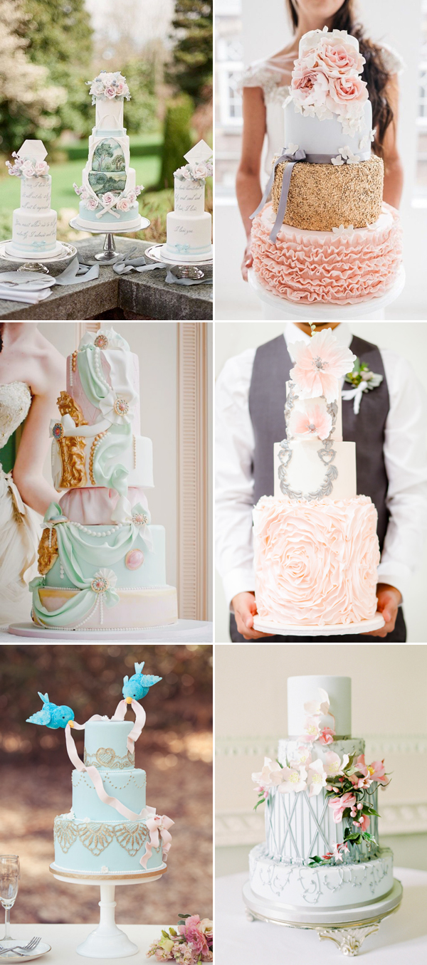 fairytale princess-worthy design for wedding cake