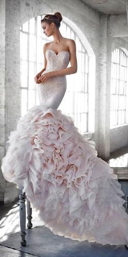 flattering mermaid wedding dress