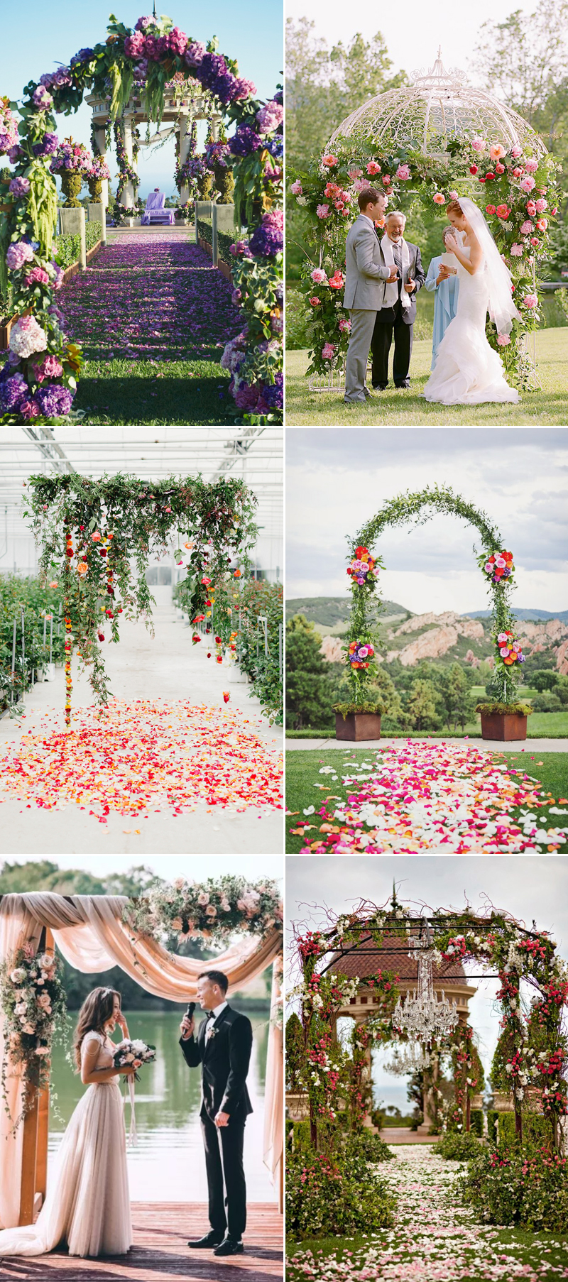 floral wedding altar decor