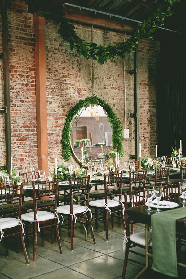 greenery-vintage-wedding-reception-inspiration