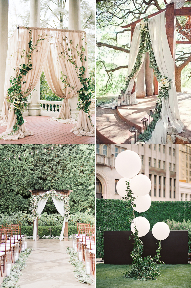 greenery wedding altar design