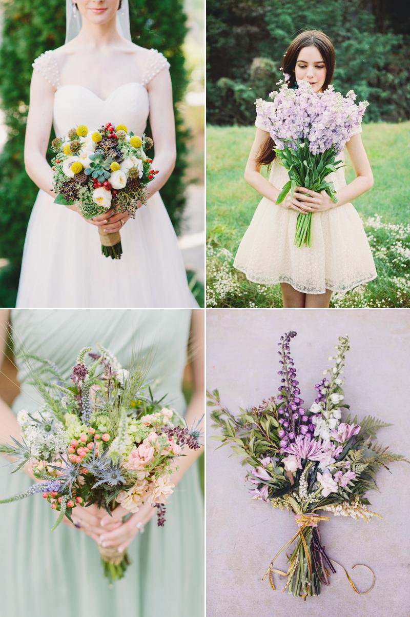 hand tied romantic wedding bouquet